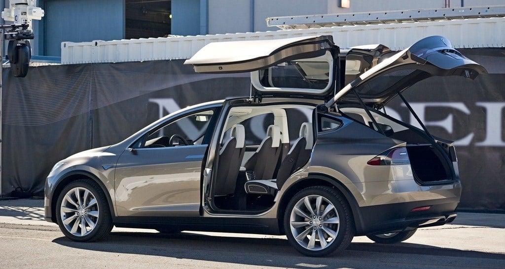 Tesla Model X open