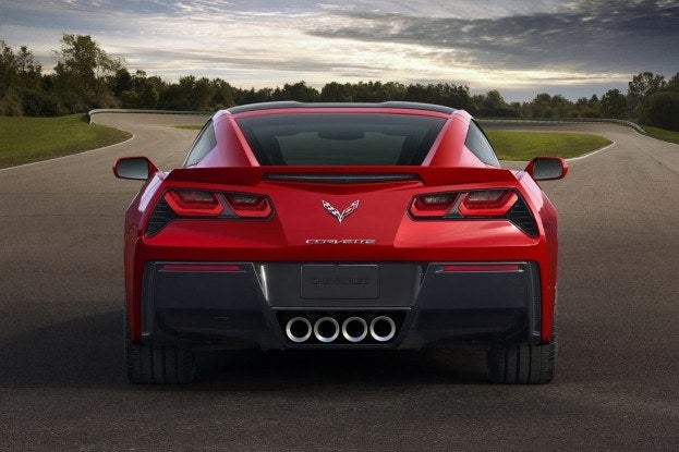 2014 chevrolet corvette c7 rear