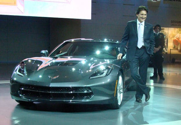 Ron Fellows with 2014 corvette