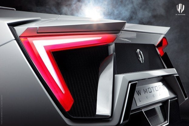 W Motors Lykan HyperSport tail