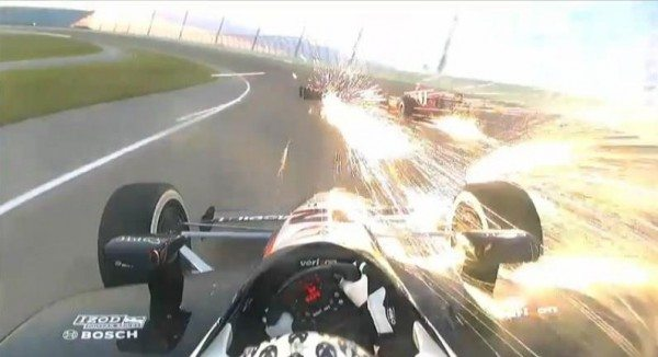 Will Power trailing sparks