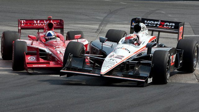 "Franchitti ""nudges"" Power to overtake"
