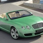 Green Bentley Continental GTC