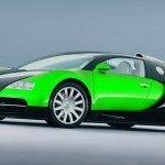Green Bugatti Veyron