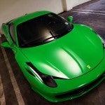 Green Ferrari 458 Italia