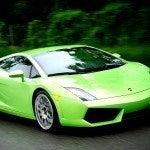 Green Lamborghini Gallardo