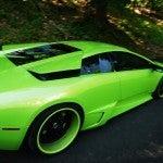 Green Lamborghini Murcielago