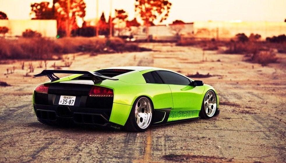 Green Lamborghini Murcielago tuned