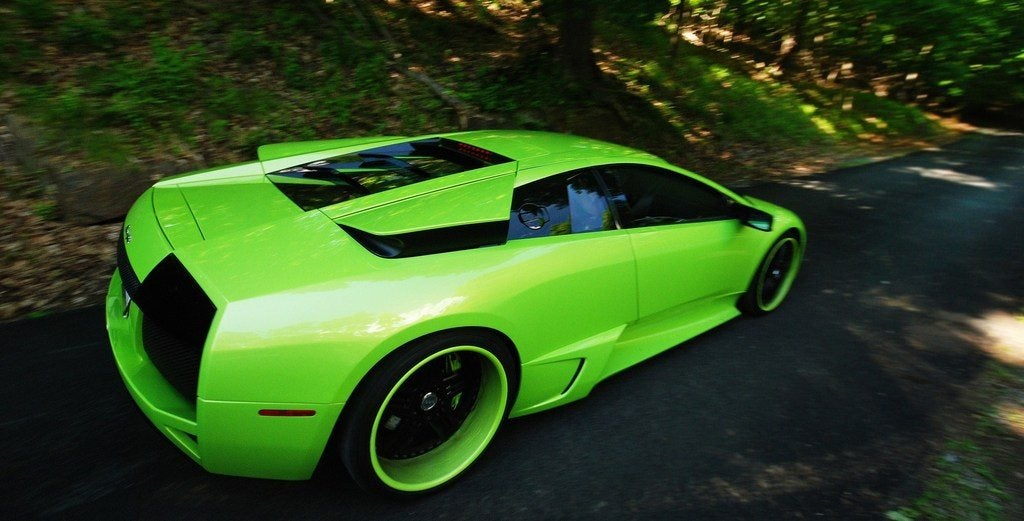 Green Lamborghini Murcielago photo on Automoblog.net