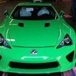 Green Lexus LF-A