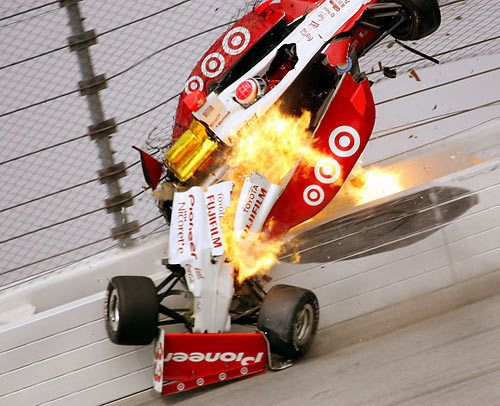 Ryan Briscoe Crash Chicagoland