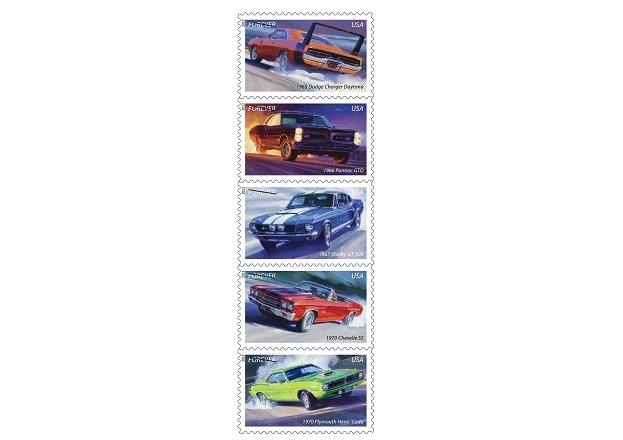 muscle car stamp set