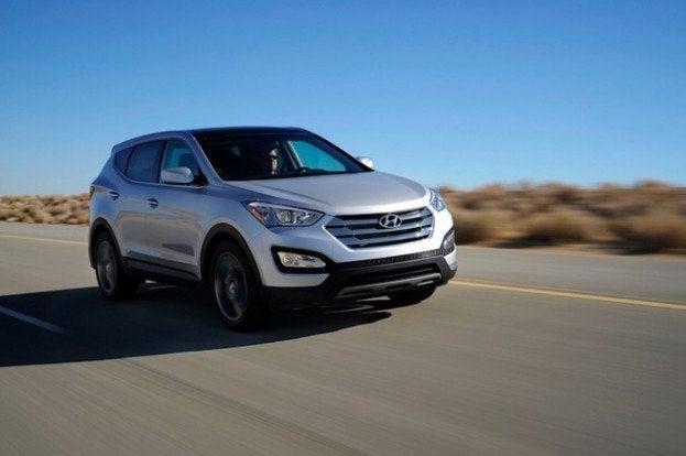 2013 Hyundai Santa Fe driving