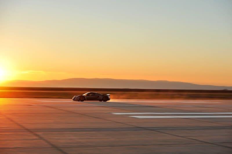 Hennessey Venom GT sunset