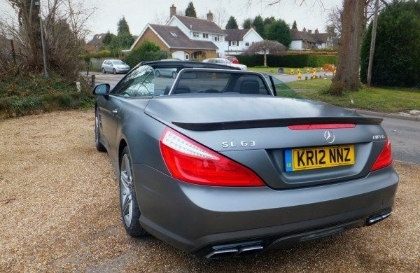 Mercedes SL 63 AMG Roadster rear