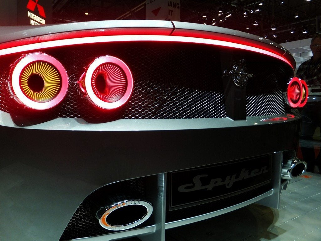 Spyker B6 Venator tail lights