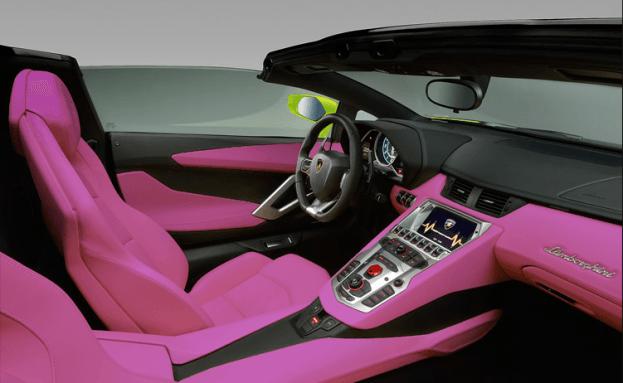 Ugly Lamborghini Aventador interior