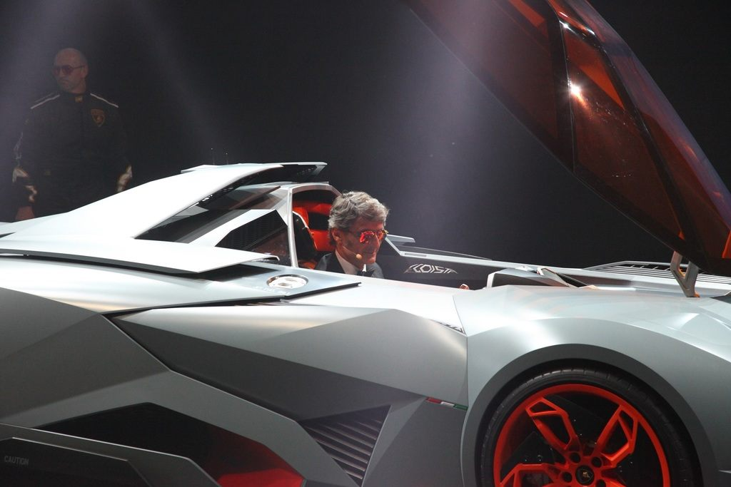 Stephan Winkelmann in the Lamborghini Egoista