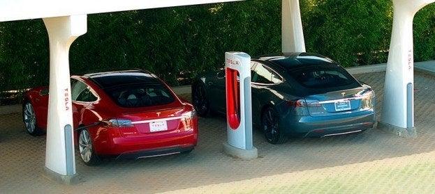 Tesla Supercharger charging