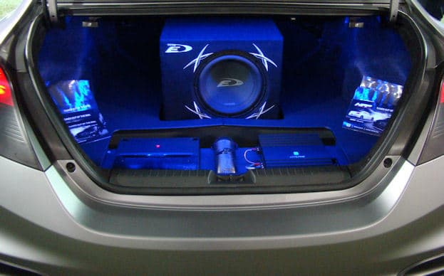 car audio in trunk