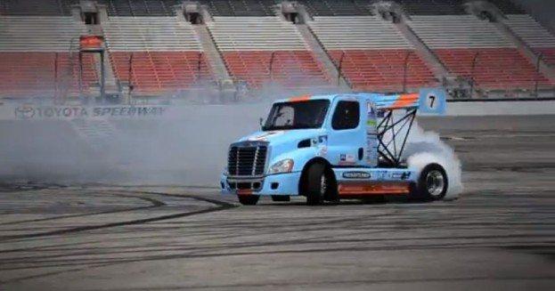 Mike Ryan Semi Truck drifting