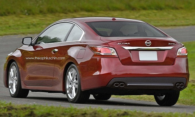 Great 2014 Nissan Altima Coupe Rear