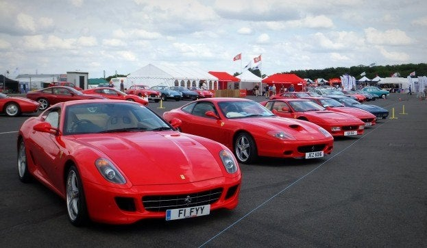 Ferrari Club at Silverstone Classic