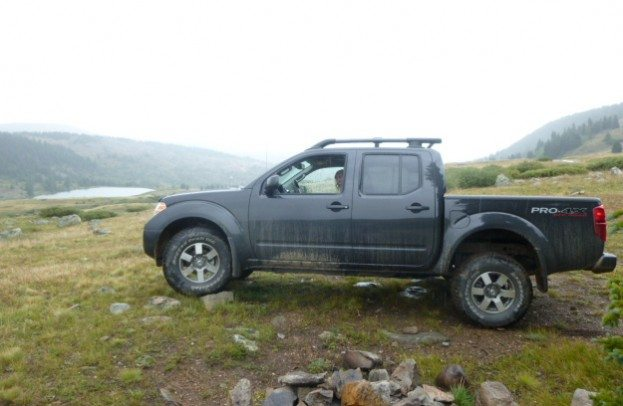Nissan Frontier PRO4X at altitude