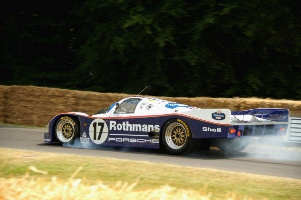 Porsche 962 Crash Goodwood Derek Bell