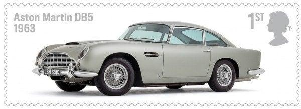 British Auto Legends Aston Martin stamp