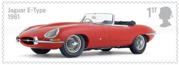 British Auto Legends Jaguar E-Type stamp