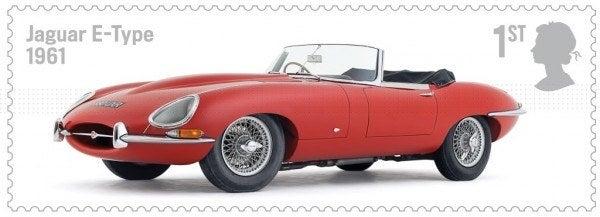 British Auto Legends Jaguar E-Type stamp