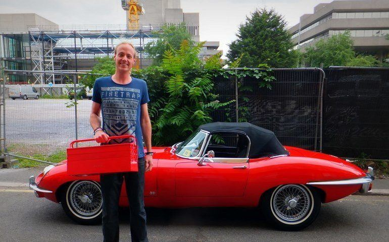 Me and the E Type Jag