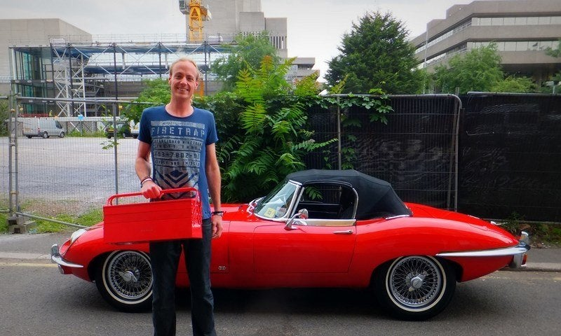 Me and the E-Type Jag