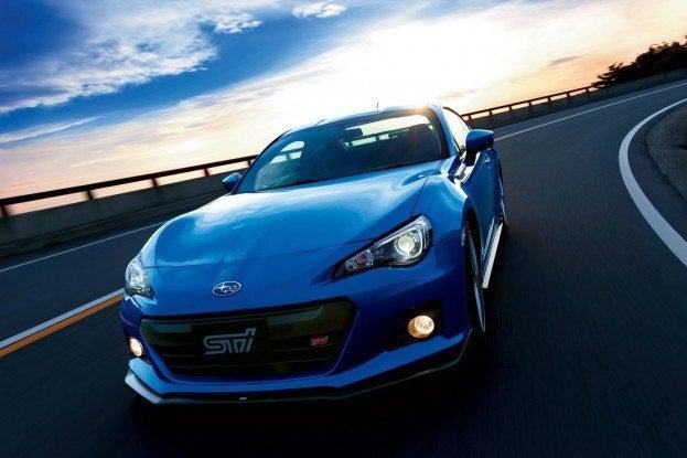 Subaru BRZ tS driving
