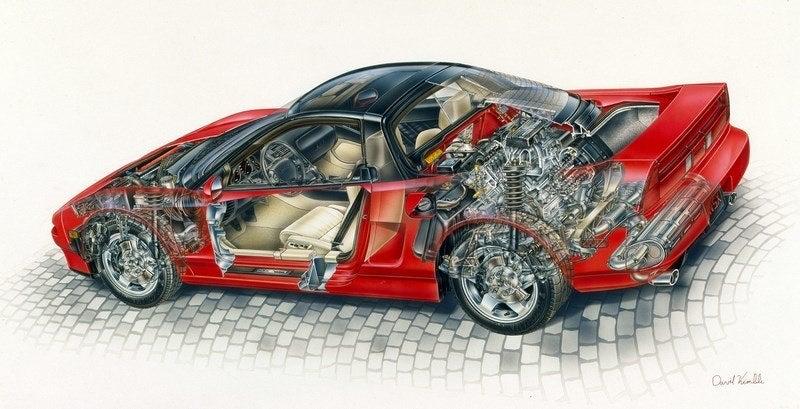 Transparent Acura NSX