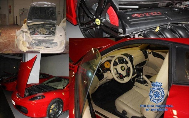 Seized replica Ferraris
