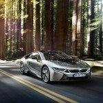 BMW i8 driving