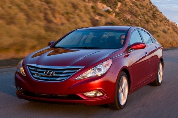 Hyundai Sonata on the road