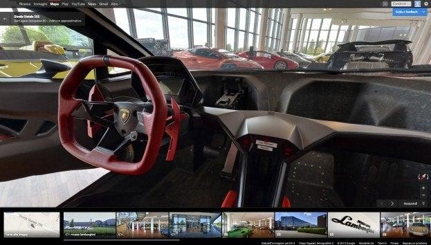 Museo Lamborghini Inside Car