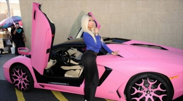 Nicki Minaj pink Lamborghini Aventador