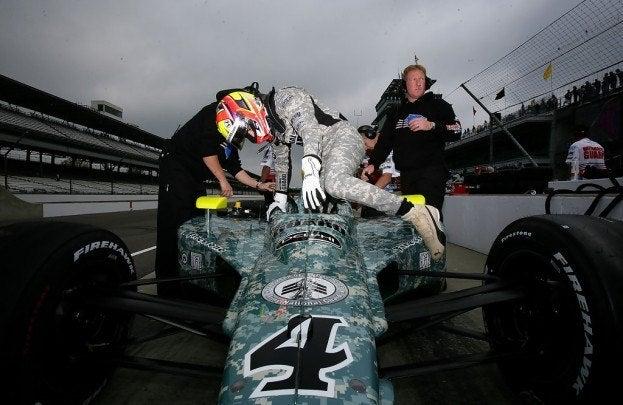 Dan Wheldon Indianapolis 500 Practice