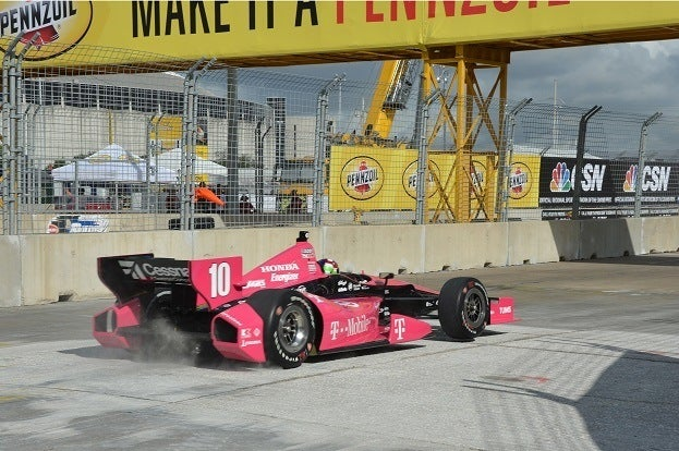 Dario Franchitti Practicing on Houston Track Oct 5th John Cote IndyCar
