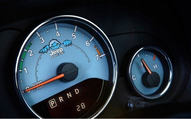 Jeep Wrangler Polar Edition gauges