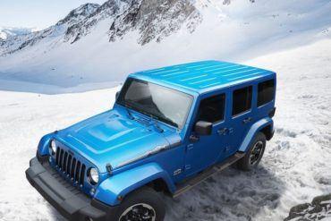 Jeep Wrangler Polar Edition top