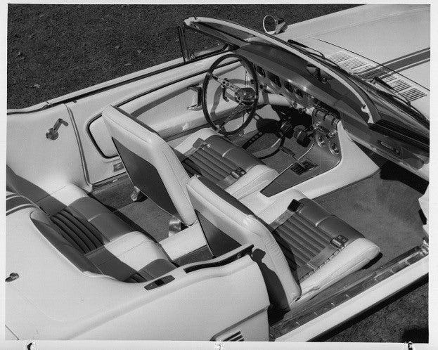 Mustang II Interior b&w