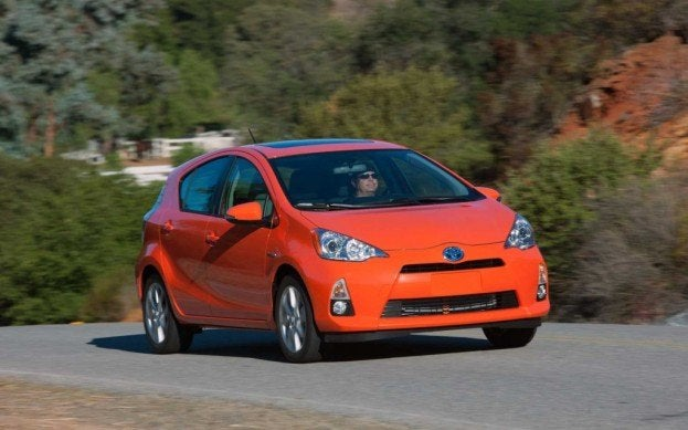 Toyota Prius c front driving