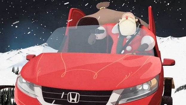 honda gifts santa  safer sleigh
