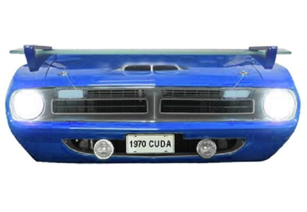Custom 1970 Cuda B5 wall shelf