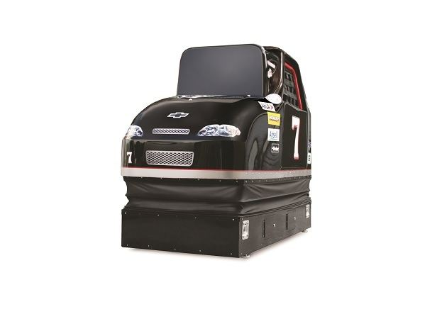 The Stock Car Racing Simulator Image Hammacher Schlemmer
